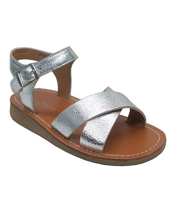Silver Apple Crisscross Sandal
