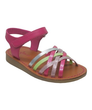 Pink & Green Apple 2 Sandal
