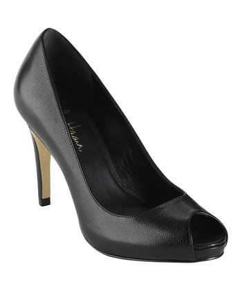 Black Air Violet Open-Toe Pump