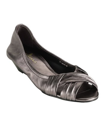 Gunsmoke Metallic Air Natalie Peep-Toe Wedge