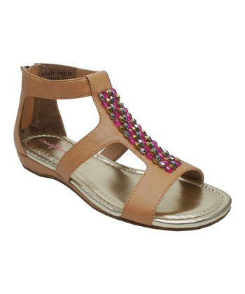 Natural Jeweled Kelsey Sandal