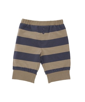 Toffee & Slate Stripe Pants - Infant