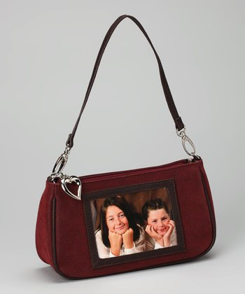 Crimson Pebbled Smart Phone Wristlet