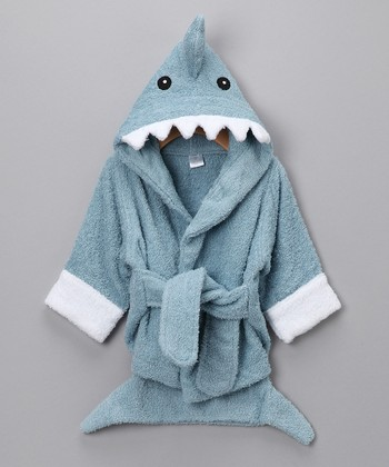 Blue Let the Fin Begin Shark Robe