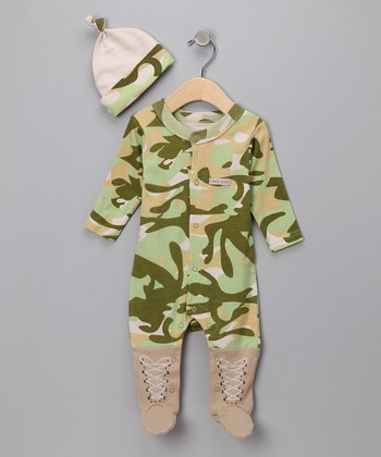 Green Big Dreamzzz Camo Layette Set