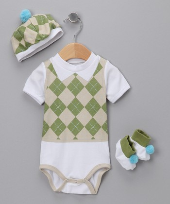 Green Sweet Tee Golf Layette Set - Infant