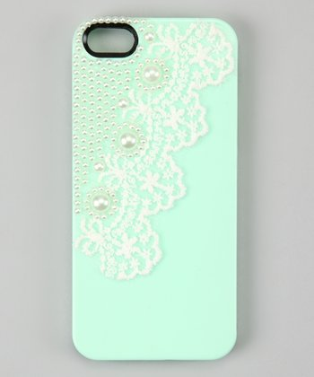 Green Pearl Lace Case for iPhone 4