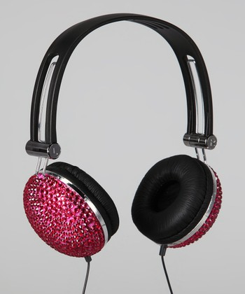 Pink Bling Rhinestone Headphones