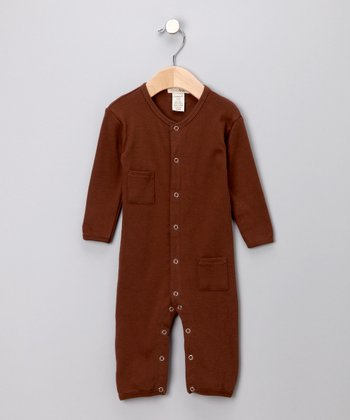 Out-on-the-Town Brown Playsuit - Infant