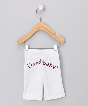 Bright White Signature Pants - Infant