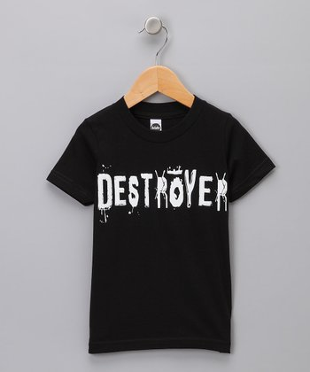 Black 'Destroyer' Tee - Toddler & Kids