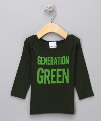 Green 'Generation' Long-Sleeve Tee - Infant