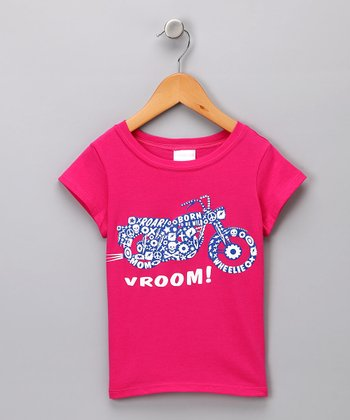 Pink 'Vroom' Tee - Toddler & Girls