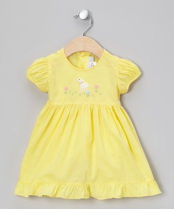 Yellow Lamb Dress - Infant & Toddler