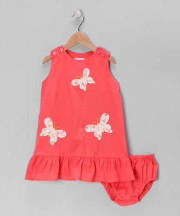 Peach Butterfly Dress - Infant & Toddler