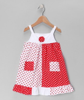 Red Polka Dot Pocket Dress - Infant, Toddler & Girls