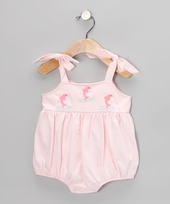 Light Pink Dolphin Bubble Bodysuit - Infant