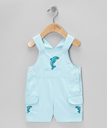 Aqua Dolphin Shortalls - Infant