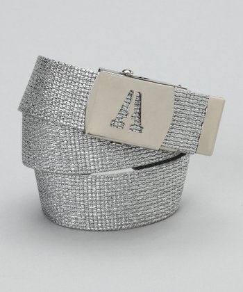 Silver Metallic Initial Belt