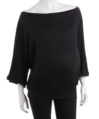 Black Maternity Dolman Top