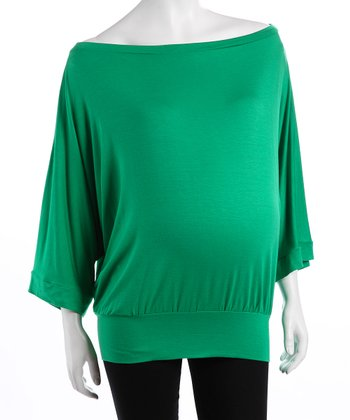 Green Maternity Dolman Top
