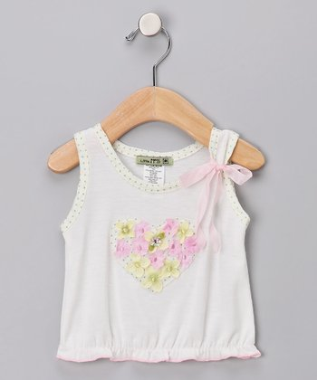 White In Bloom Tank - Infant, Toddler & Girls