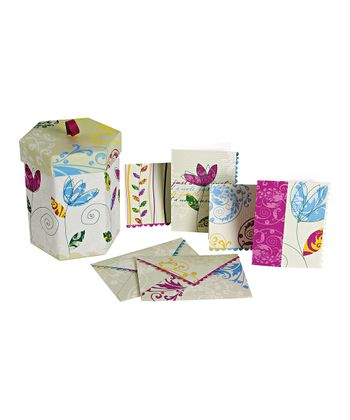 Flower Note Card Set