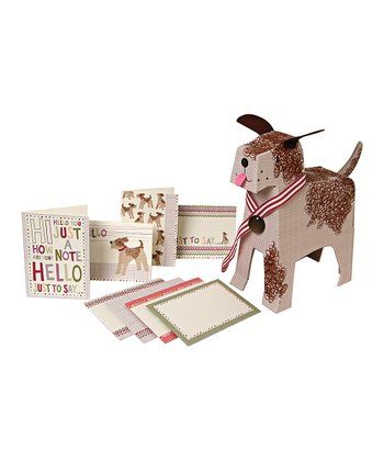 Curly Puppy Stationery Set