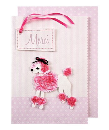 Puffy Poodle Thank You Card