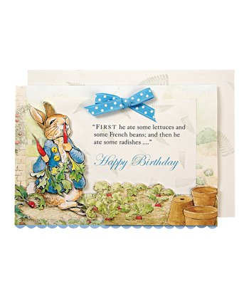 Peter Rabbit Birthday Card & Envelope