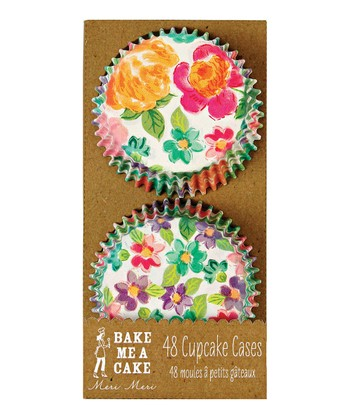 Bright Floral Cupcake Liner - Set of 48