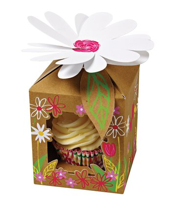 Small Little Garden Cupcake Box - Set of Four