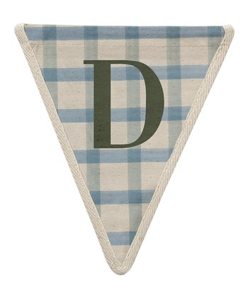 Blue Checker 'D' Bunting Pennant - Set of Three