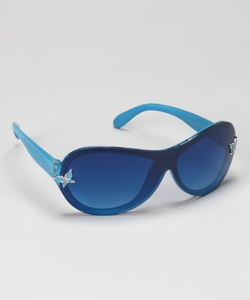 Blue Butterfly Sunglasses