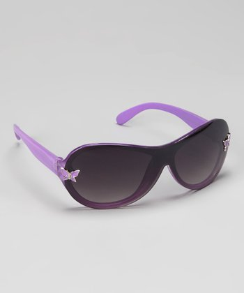 Purple Butterfly Sunglasses