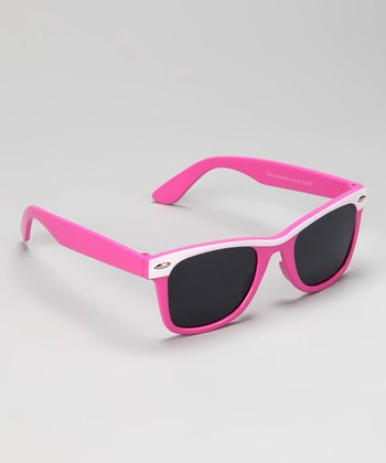 Pink & White Retro Sunglasses