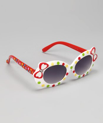 Red & White Bows Sunglasses