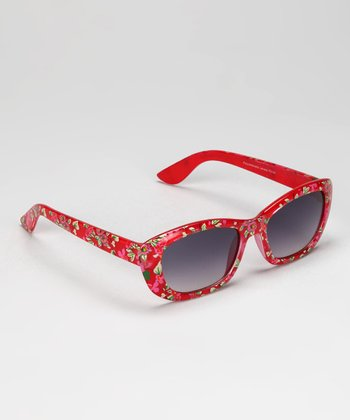 Red Floral Sunglasses