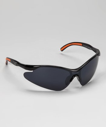Black & Orange Rubber Curve Sunglasses