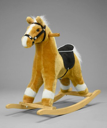 Blonde Animated Horse Rocker