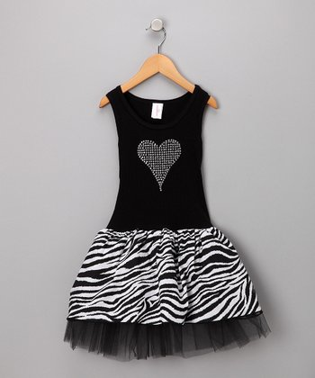 Black & White Zebra Tulle Dress