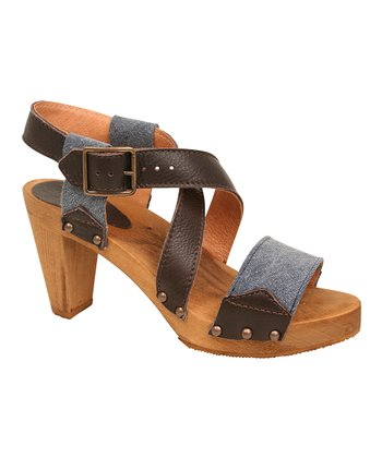 Denim Wood Pelargonia Plateau Sandal - Women