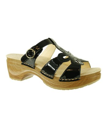 Black Patent Dalia Slide - Women