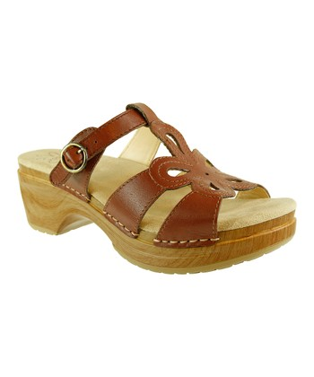 Brown Wood Dalia Sandal - Women