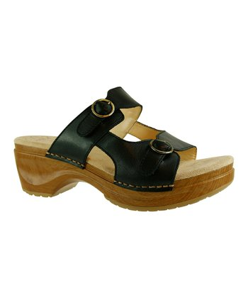 Black Wood Deanna Platform Sandal - Women