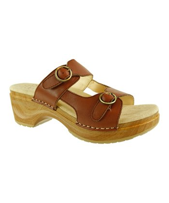 Brown Wood Deanna Platform Sandal - Women