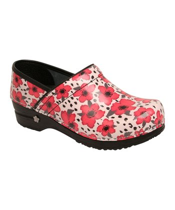 Red Poppy Professional Clog - Women