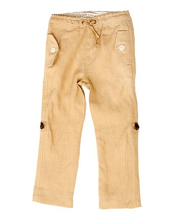 Sand Linen Cuffed Pants - Toddler & Boys
