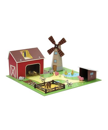 Green & Red Farm Play Set