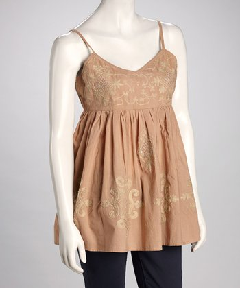 Taupe Embroidered Camisole